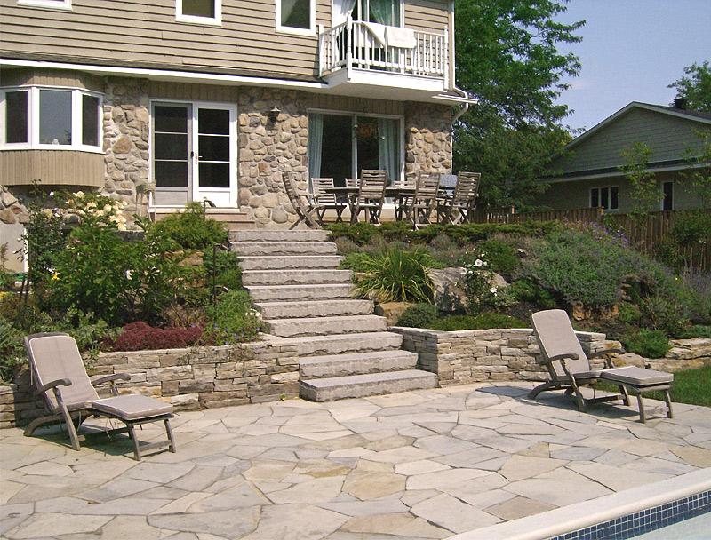 Am nagement paysager de terrasses et patios par paysagiste for Plans patios et terrasses